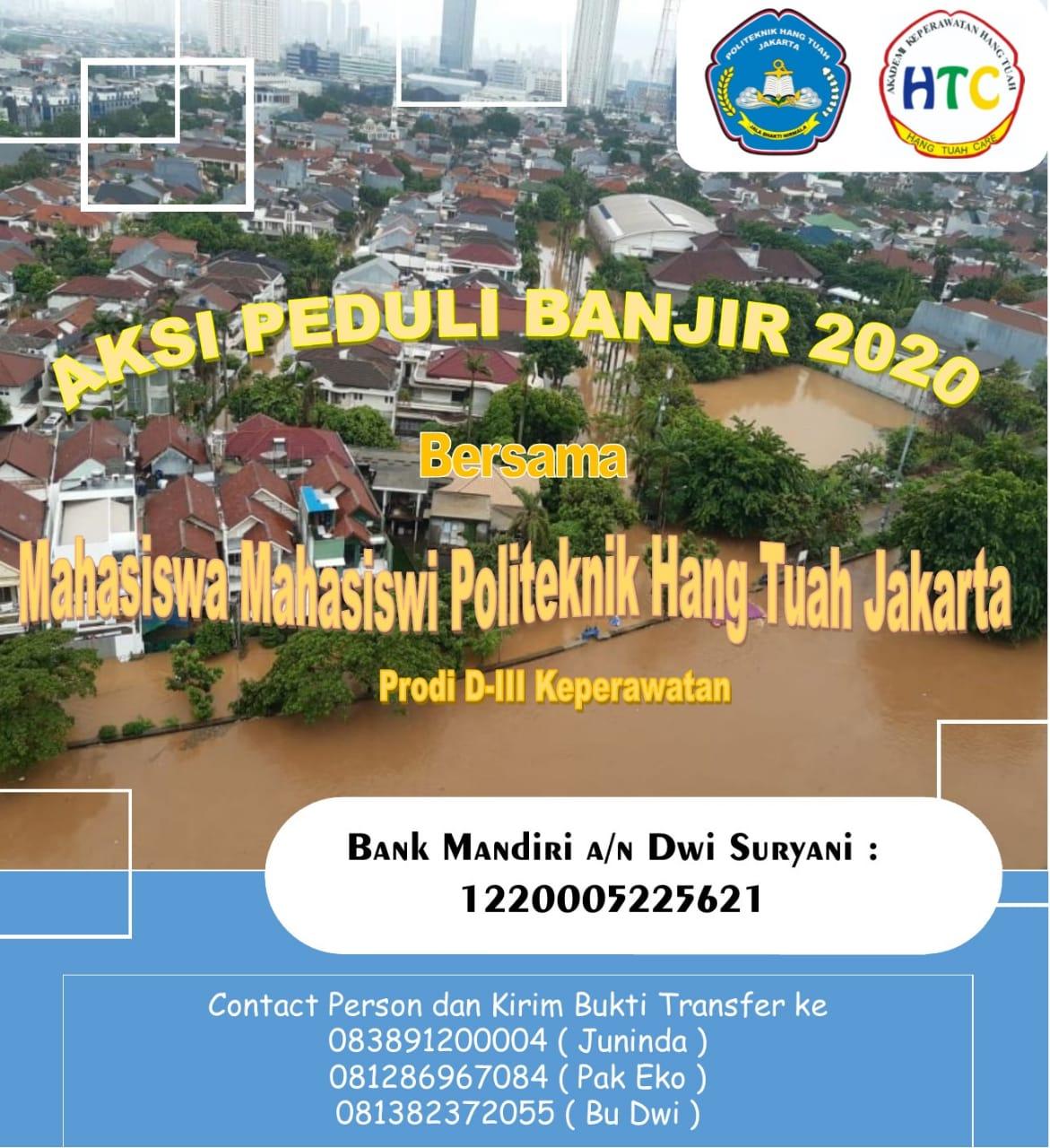 AKSI PEDULI BANJIR 2020 POLITEKNIK HANG TUAH JAKARTA